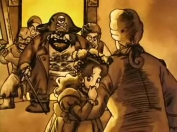 La jeune femme victime des pirates