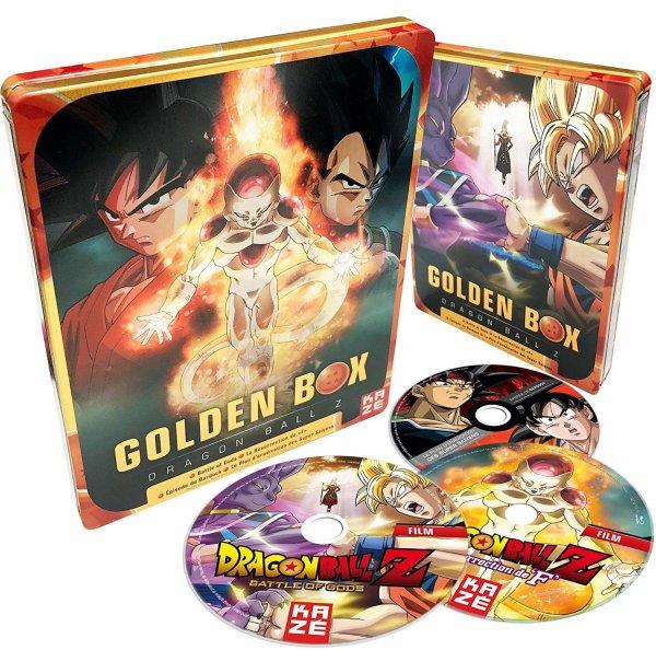 Dragon Ball Z 2 Films et 2 OAV – Golden Box – Steelbox – Coffret Blu-ray