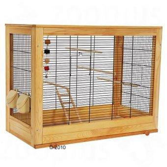 Une cage de perruche fabrice on bois les perruches ondul es for Voliera fai da te
