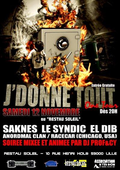 """Emission promo mixtape """"J'DONNE TOUT"""" - Samedi 15 octobre 2011 de 16 à 17h"""