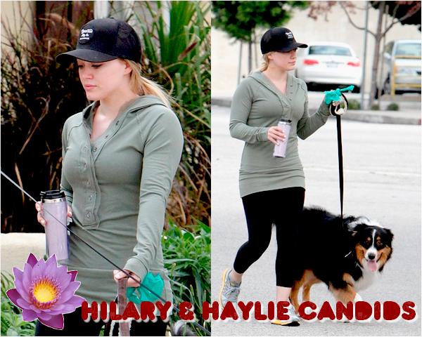 ♦ Your Hilary Duff  SourceHilarieDuff.skyrock.comCatégorie ;  CANDIDS     → 7 AVRIL  Hilary & Haylie promènent leurs chiens à LA.TOP ou FLOP ?
