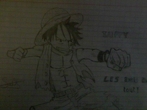 Spéciale Dessin One Piece !! Luffy,Sanji,Chopper et Sniper King sont dans la place !!!