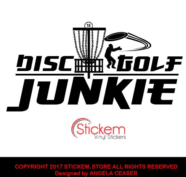 Disc Golf Junkie Vinyl Car Sticker Decal