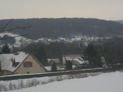Voici ma ville sous la neige depuis 1 semaine