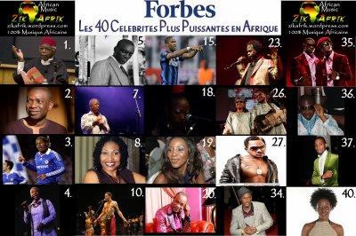 """Les 40 Celebrites Plus Puissantes en Afrique selon """"Forbes"""""""