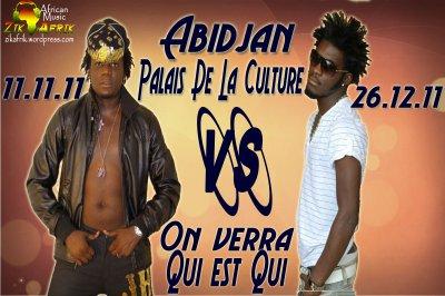 Arafat defie DJ Mix au Palais de la Culture d'Abidjan le 26 Decembre