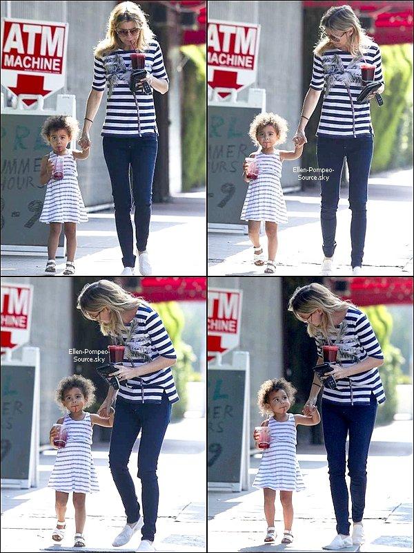 14/07 Ellen et sa fille, Stella, a été vue à Los Feliz.