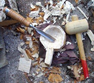 Réalisation d'une kuksa, tasse en bois finlandaise 2/2 ...