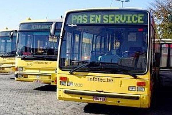 Les conducteurs de bus TEC sont partis en grève vendredi