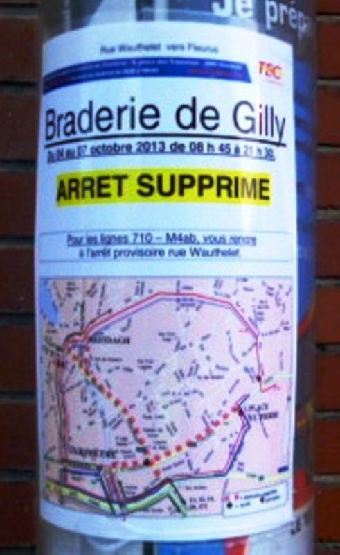 je rappelle ces la braderie jusque lundi as gilly