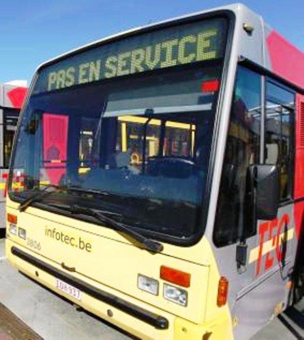 attention grevé de bus as Charleroi - en Wallonie aussi