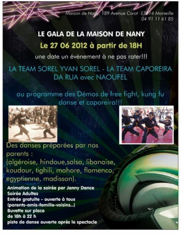 Demonstration FREE FIGHT et KUNG FU a la CRECHE !