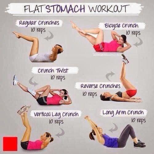 Exercices à faire pour un ventre plat