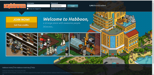 game called habbo is retro :) new one 2016