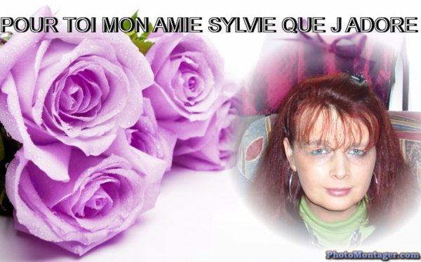 POUR MON AMIE SYLVIE