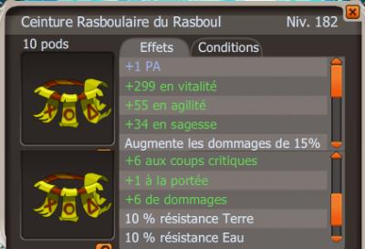 Rasbou PA  et Dofus Turquoise +18cc !