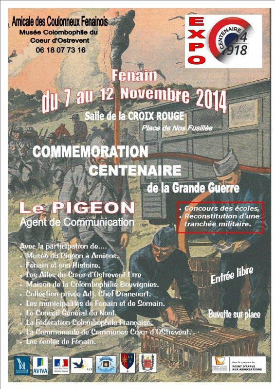 EXPOSITION COMMEMORATIVE ,CENTENAIRE DE LA GRANDE GUERRE