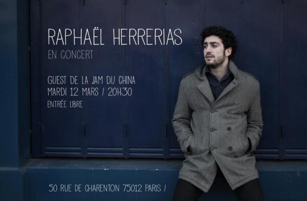 Raphaël Herrerias en concert au China à Paris 12 Mars 2013