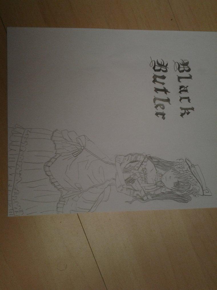 dessin de Ciel Phantomhive déguisé en fille ♡