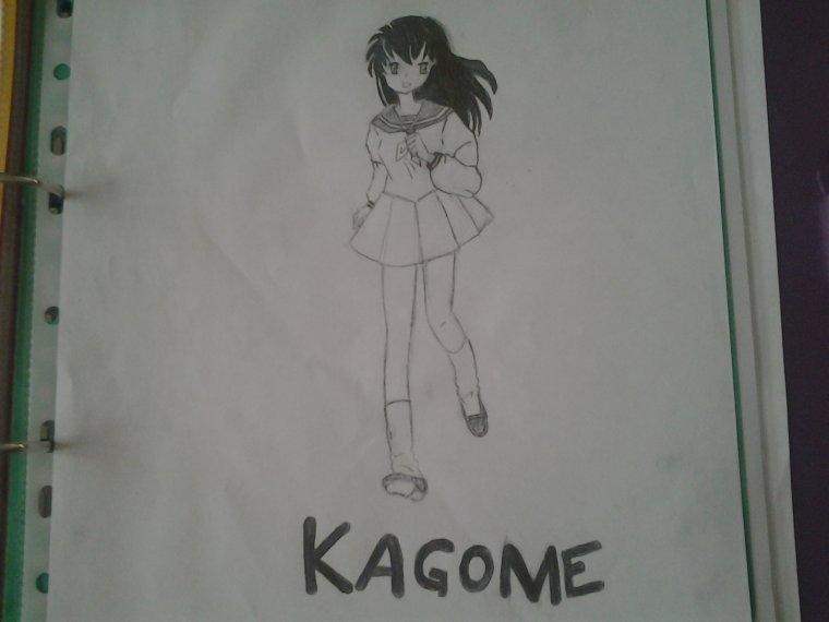 dessin de kagome dans INUYASHA