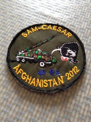 40e RA - SAM-CAESAR DEPLOYMENT COMMEMORATION PATCH 2012