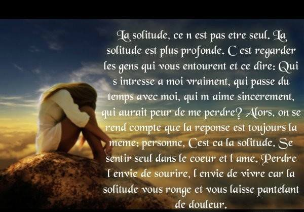 *La solitude*
