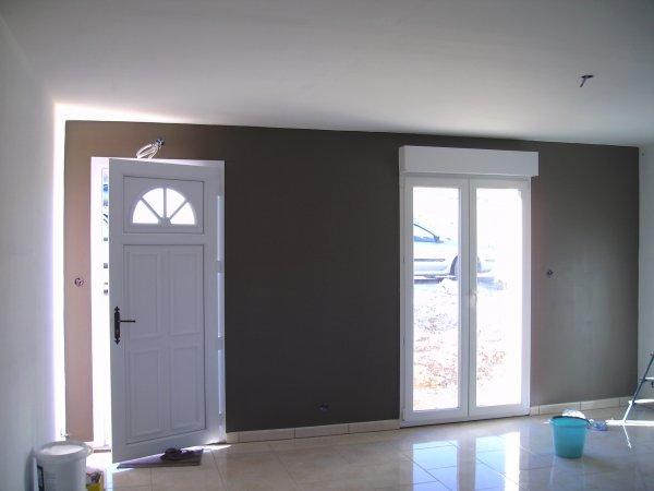 debut peinture salon blog de maisonmikitdu55 porte peinte en deux couleurs - Peindre Un Salon En Deux Couleurs