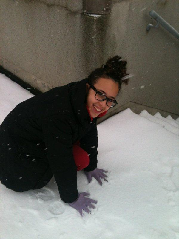 sarah dans la neige