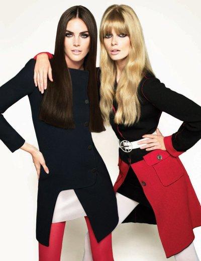 Hilary Rhoda & Julia Stegner par Cuneyt Akeroglu pour Vogue Turquie octobre 2010