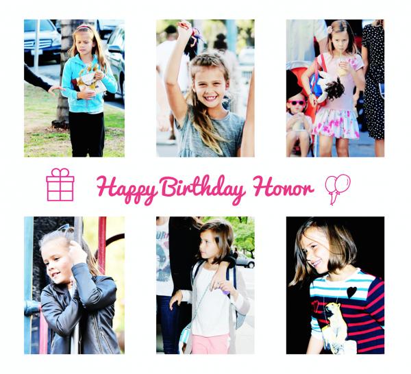 Happy 8th Birthday Honor !