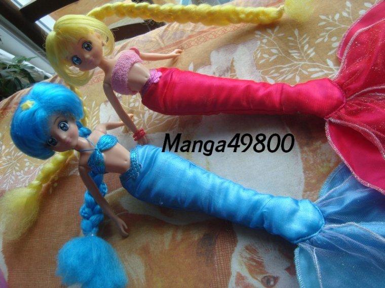 Mes 2 Mermaid Melody Hanon et Luchia