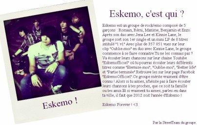un groupe de chanteur qui s'appelle Eskemo