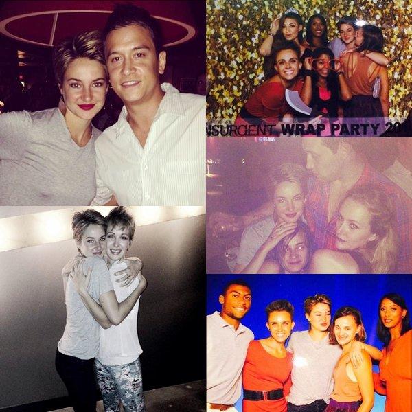 . Insurgent Wrap Pary | La fêtes de la fin de tournage du film Insurgent. Voila les quelques photos de Shai lors de la soirée qui a était organisée pour la fin de tournage. Le trailer sortira le 21/11 .