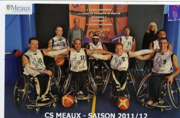 équipe basket fauteuil Meaux ( 77)