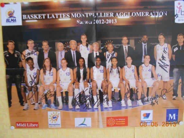 équipe de basket féminine Montpellier