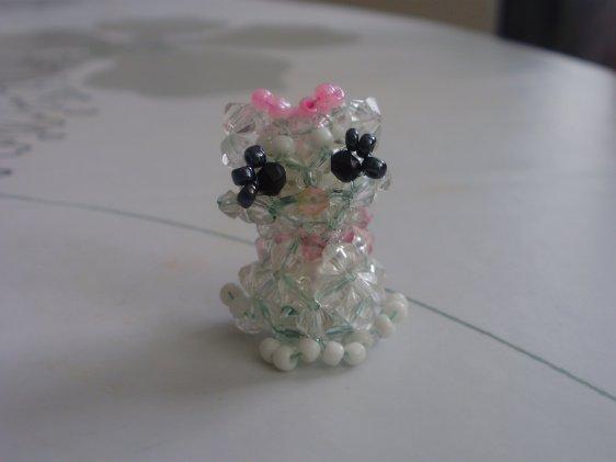 Un chat en perles