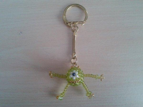porte clés montre vert.