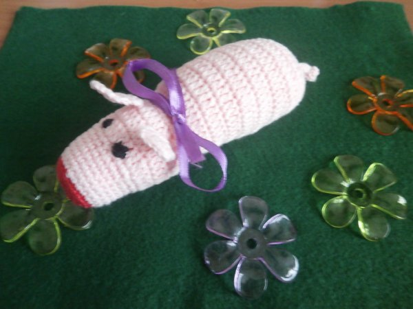 Cochon au crochet.