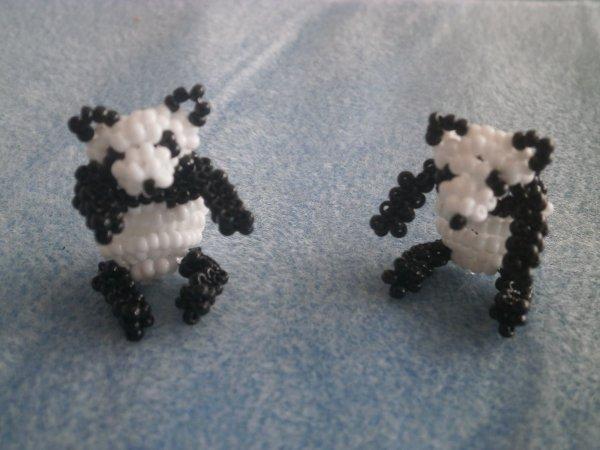 Panda en perles de rocailles.