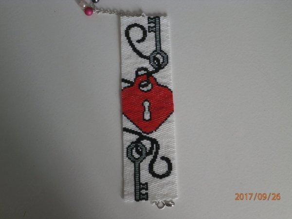 """bracelet manchette """" coeur """""""