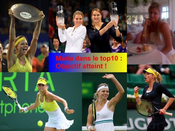 Maria Kirilenko fait son entrée dans le top 10 en simple !