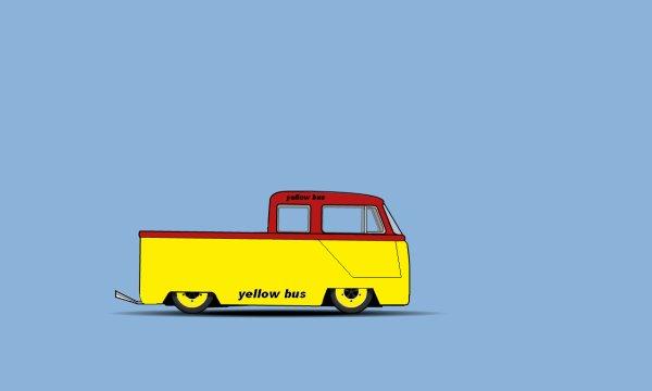 """un combi drag """"Yellow bus"""""""