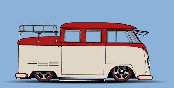 """Une petite """"MAJ"""" pour le Combi triple cabine que j'ai posté il y à très longtemps ."""