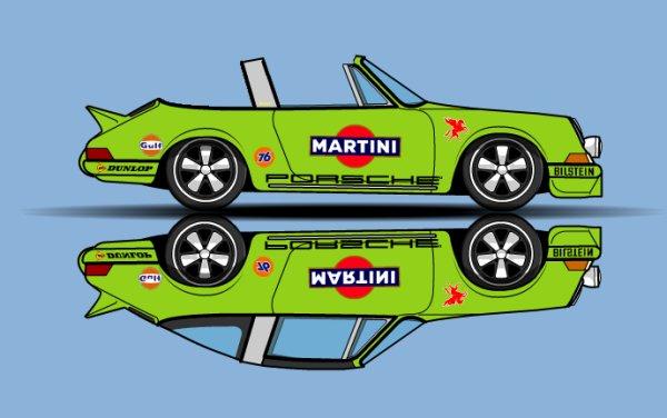Porsche 911 Targa toit et arrière retirés