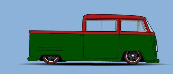 Combi Bay Window rallongé avec arrière de double cabine