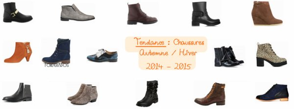 tendance les chaussures top automne hiver 2014 2015. Black Bedroom Furniture Sets. Home Design Ideas