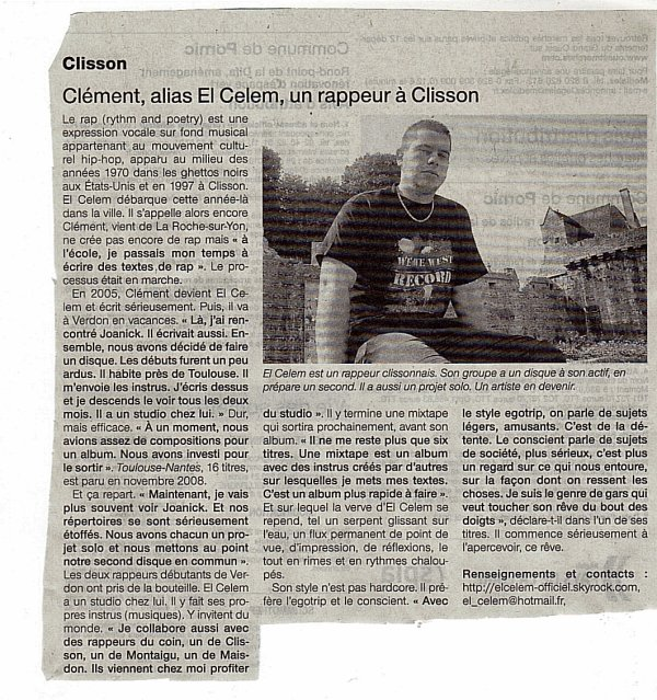 ARTICLE PARUT DANS OUEST FRANCE DU 28/08/2010
