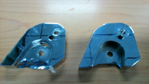 Rehausseur chromés 25-35mm amortisseurs Bidalot RS - 75¤