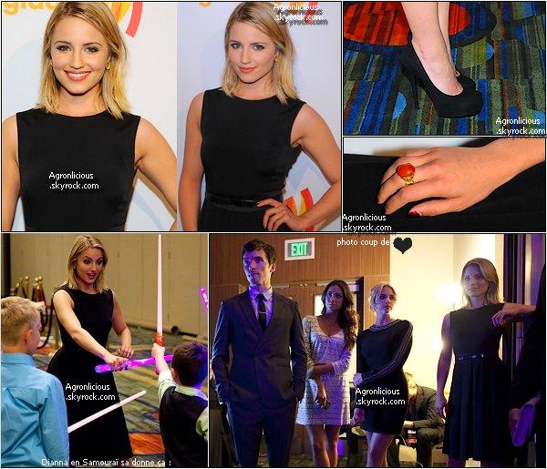 Events 4 Juin :  Dianna était à la cérémonie des GLAAD Media Awards ! Flop ou Top pour sa tenue ?