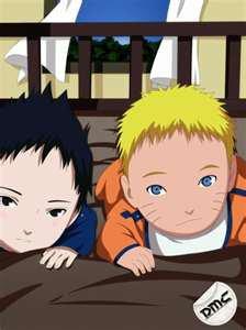 Bébé Sasuke et Bébé Naruto